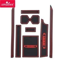 smabee anti slip gate slot mat for suzuki jimny 2019 2020 interior accessories rubber door pad cup holders non slip mats