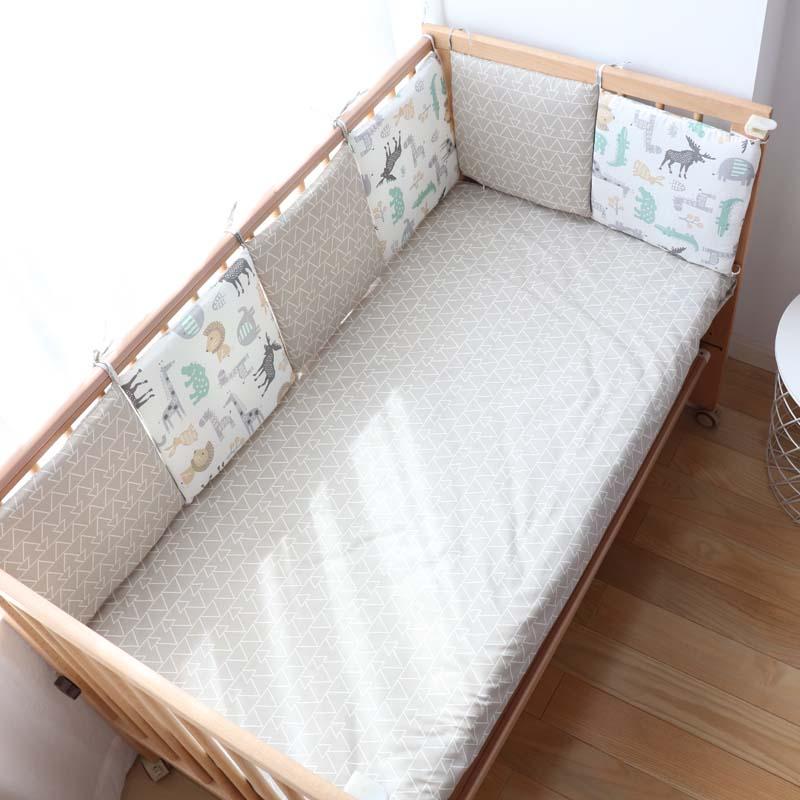 الطفل مصدات في سرير لحديثي الولادة الشمال لطيف الكرتون نمط سرير حامي للأطفال الطفل غرفة الديكور 30x30 سنتيمتر 6 قطعة الكثير