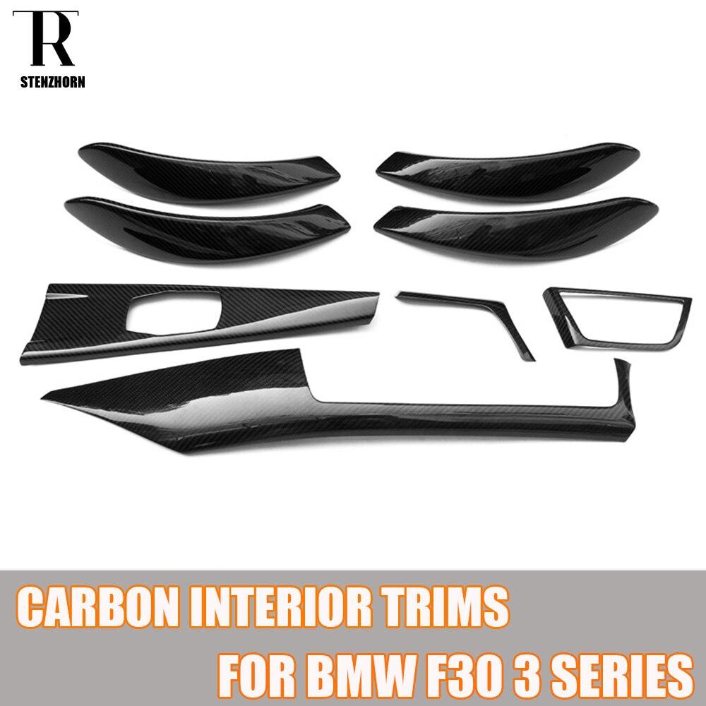 Ajuste de tablero Interior de fibra de carbono para BMW F30 Sedan F31 Wagon F34 GT F32 Coupe F36 GranCoupe Left Hand Drive