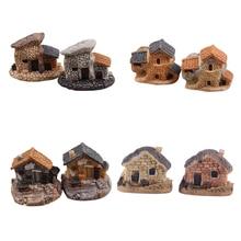 Casa di bambola In Miniatura Micro Pietra Decorazione Dollhouse Casa Fairy Garden Cottage Paesaggio DIY Artigianato di Design 4 Tipi