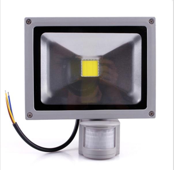 Gran oferta de proyector Led para exterior IP65, resistente al agua, 10W, 20W, 30W, 50W, proyector LED de luz de inundación 85-265V, sensor externo