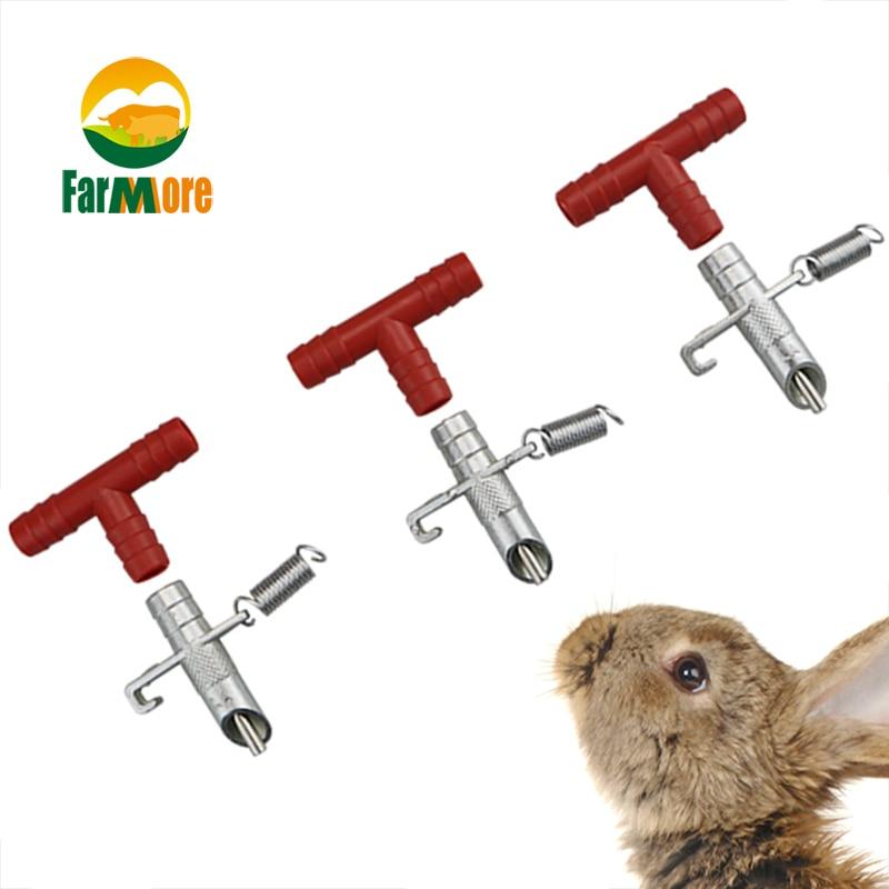20 Set/Pcs Nipple Drinkers Rabbit Drinker Rodents Automatic Waterer Drinker Feeder Rabbit Water Nipple Bunny Farm Accessories