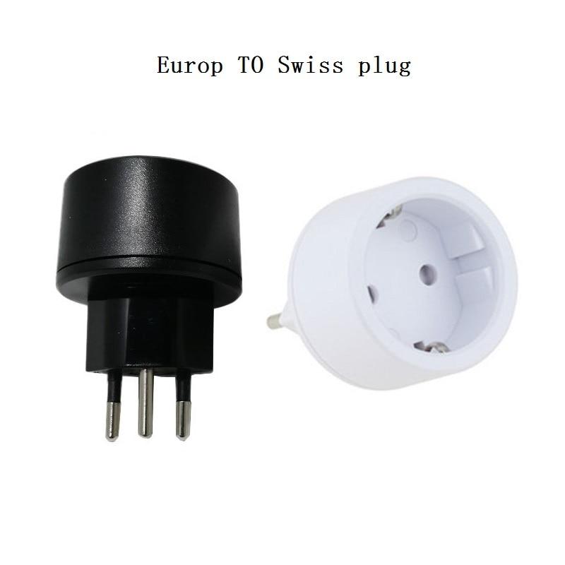 La UE DE Alemania hembra DE 3 pines Suiza adaptador DE enchufes incluidas Suiza Adaptador convertidor DE enchufe suizo tapones que francés enchufes