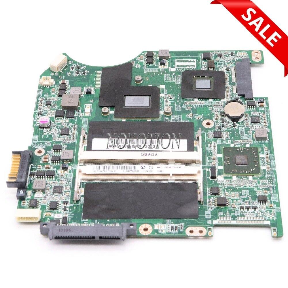 NOKOTION A000063990 DABU3AMB8E0 placa base de Computadora Portátil para Toshiba Satellite T135D Series REV E placa base probada completa