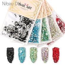 1080 pièces tailles mélangées ongles Strass cristaux Strass pierres colorées verre Strass pour ongles Art 3D décoration accessoires
