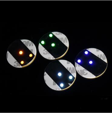 300 Uds. Universal LED botella pegatina redonda impermeable Flash posavasos Mat Paster Ultra finos adhesivos con forma de taza regalo de fiesta lin4728