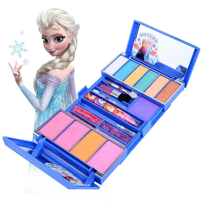Beauty & Fashion Toys 2019 new Children's Disney  frozen cosmetics Snow Princess makeup box set girl masquerade show house toys