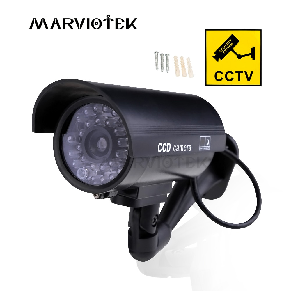 Outdoor Fake Camera Home Security Video Surveillance dummy camera cctv cameras videcam Mini Camera HD battery power Flashing LED