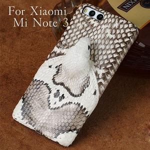 Wangcangli brand phone case real snake head back cover phone shell For Xiaomi Mi Note 3 Plus full manual custom processing