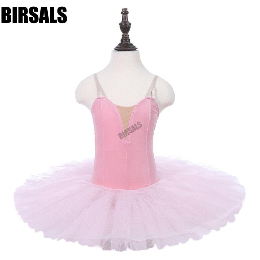Childs vestido de tutú de Ballet Rosa rendimiento pre-profesional Ballet Tutu etapa trajes faldas leotardos Ropa de baile PPL18044F