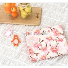 South Korea imported  cotton fabric, rural style digital printing, handmade DIY clothing dress baby