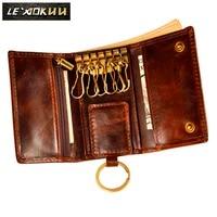Оригинальный кожаный мужской модный многофункциональный кошелек для монет, автомобильный чехол с дистанционным управлением, Чехол-держат...