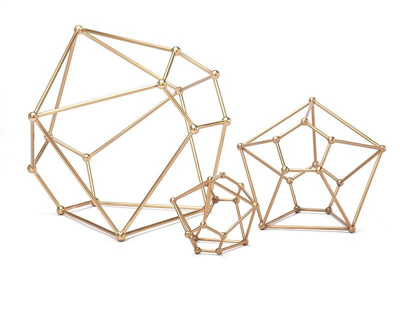 Creative Simple Irregular Geometry Ball Home Art Decoration Jewelry Display Set European Store Jewelry Window Display Props