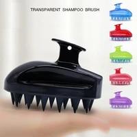 1pc comfortable silicone shampoo scalp massage brush hair washing comb body bath spa slimming massage brush personel health