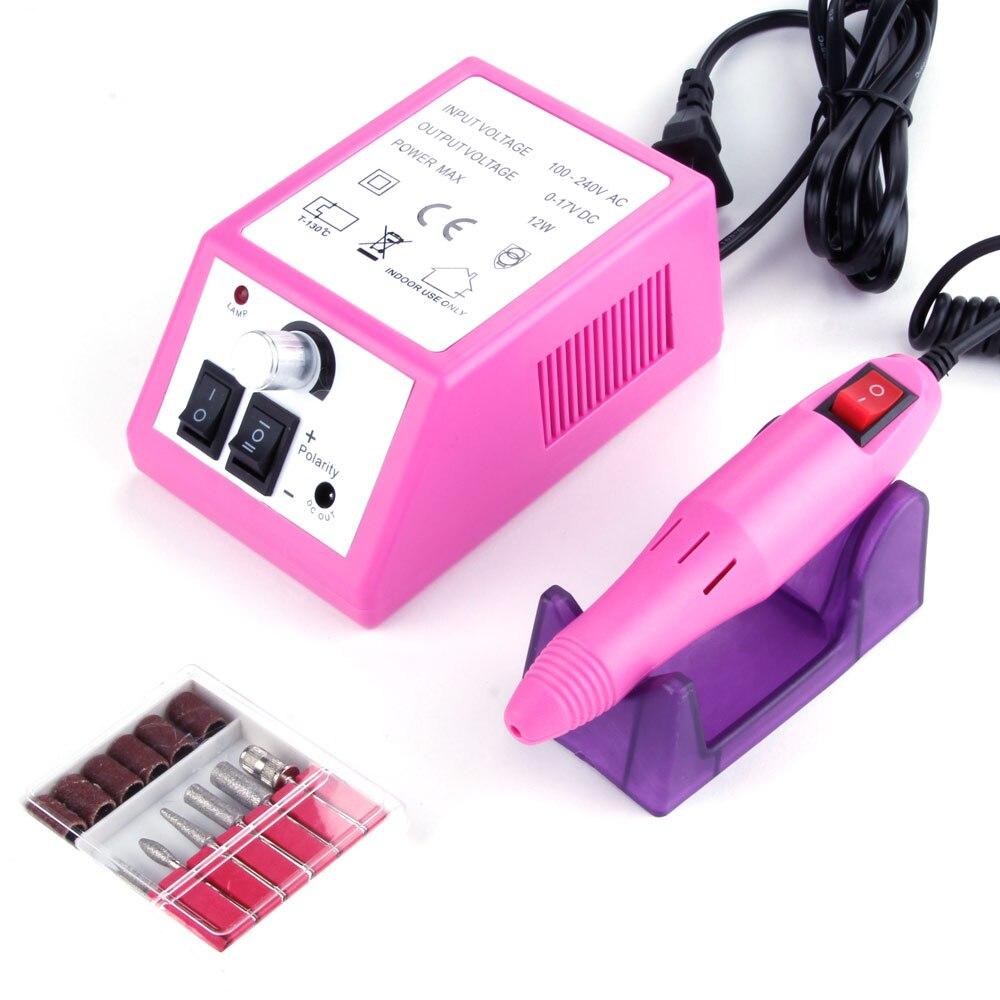 20000RPM taladro clavo aparatos eléctricos para manicura Gel de Cuticle Remover de juego de brocas pedicura Polaco de Arte de uñas