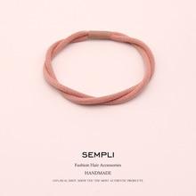 Sempli-bande élastique pour cheveux-Sempli   Bande de cheveux coréenne pour femmes, bandeau élastique Double part pour enfants, pince à cheveux, accessoires pour cheveux