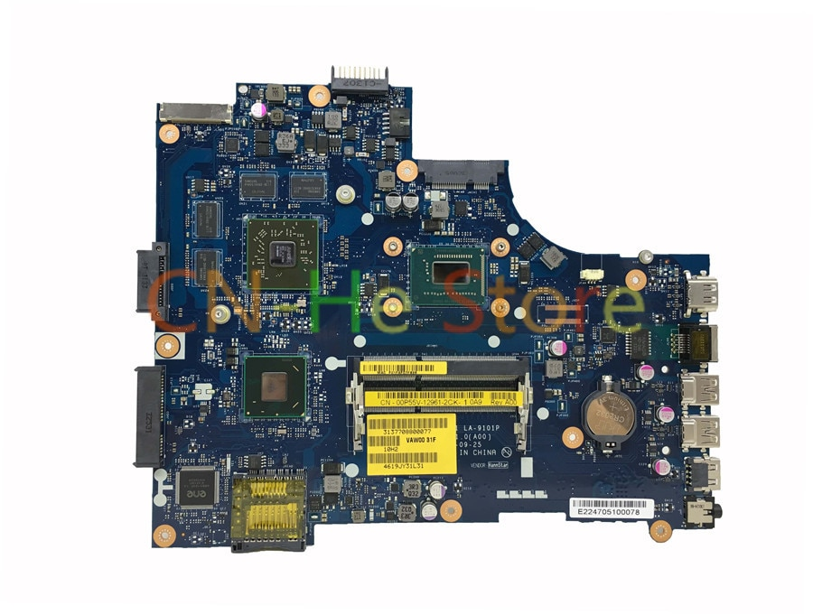 JOUTNDLN para Dell Inspiron 3521 de 5521 placa base de computadora portátil CN-00P55V 00P55V 0P55V VAW01 LA-9101P I7-3537U HD de prueba de 8730M de trabajo