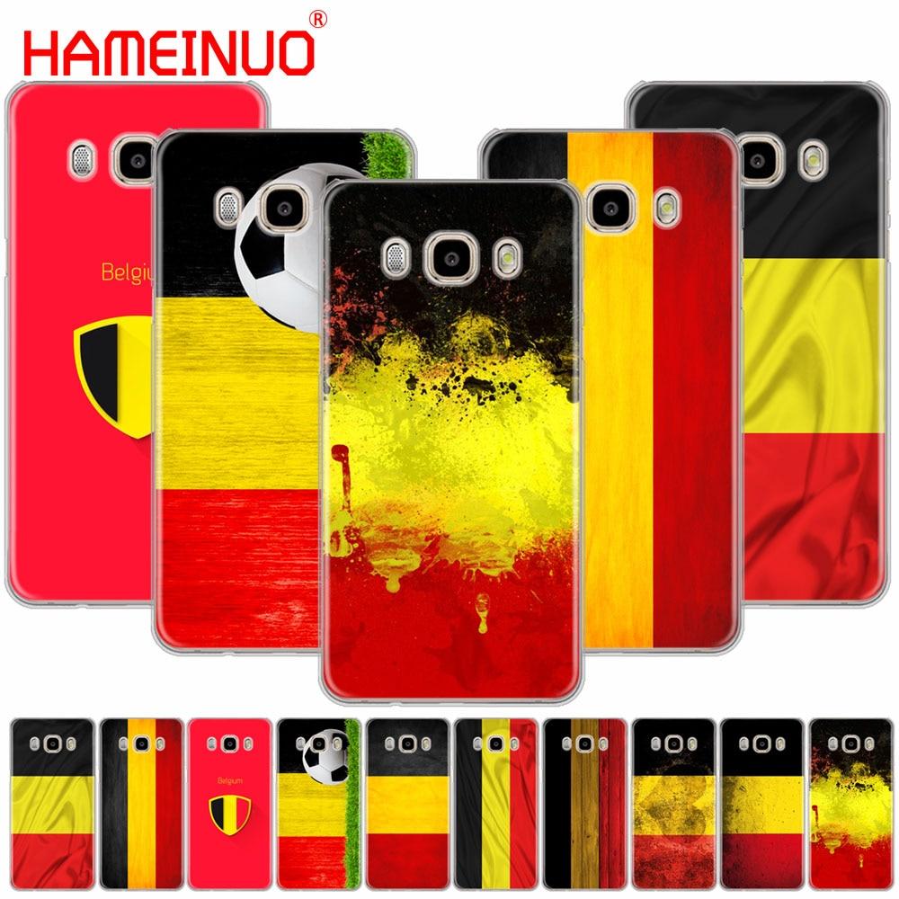 HAMEINUO Bélgica Bandeira de Luxo High-end Protetor caso tampa do telefone para Samsung Galaxy J1 J2 J3 J5 J7 MINI ACE 2016 2015 prime