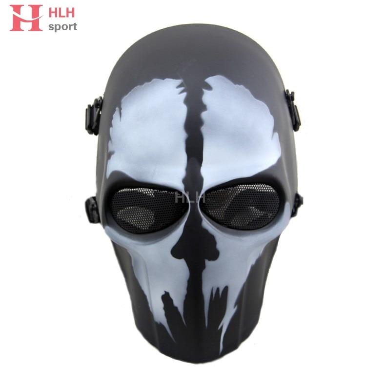 Máscara de caza táctica de Paintball Airsoft negra