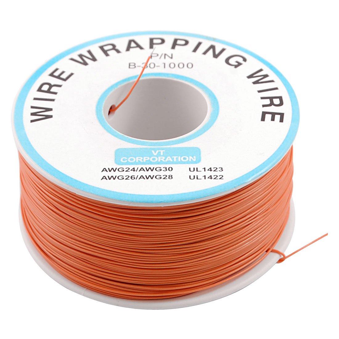 PCB припой Оранжевый Гибкий 0,5 мм наружный диаметр 30AWG обертывание провода 1000Ft