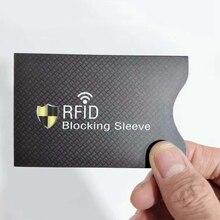 5pcs/bag Anti-Scan Card Sleeve Credit RFID Card Protector Anti-magnetic Aluminum Foil Portable Bank Card Holder