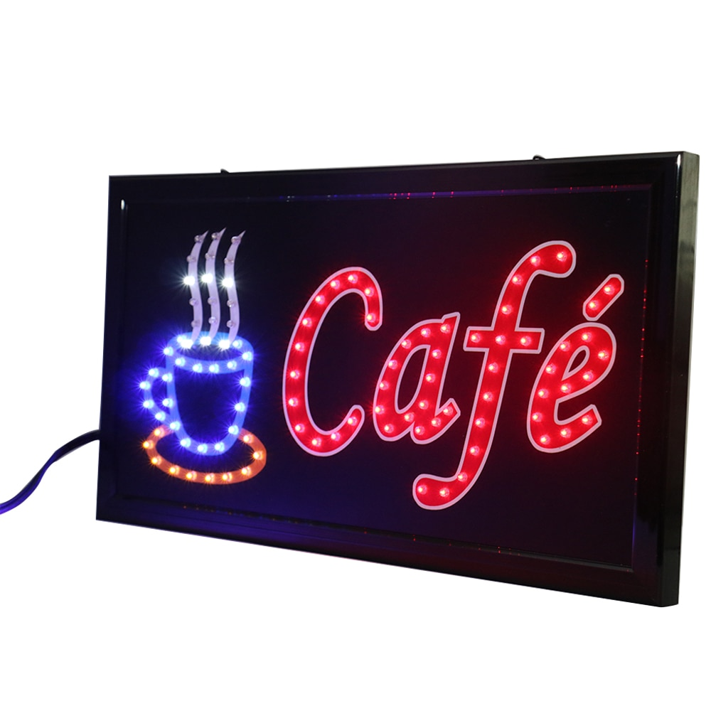 CHENXI-ملصقات نيون متحركة Led ، 27 نمطًا مختلفًا ، 19*10 بوصة ، للقهوة ، والمقاهي ، والمتجر ، وضوء الإعلان
