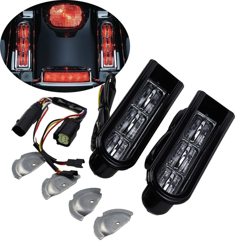 Наполнитель для светодиодной подсветки для мотоцикла, наполнитель для сумки, Поддержка заднего фонаря для Harley Electra Glide Road King Ultra 2014 - 2017
