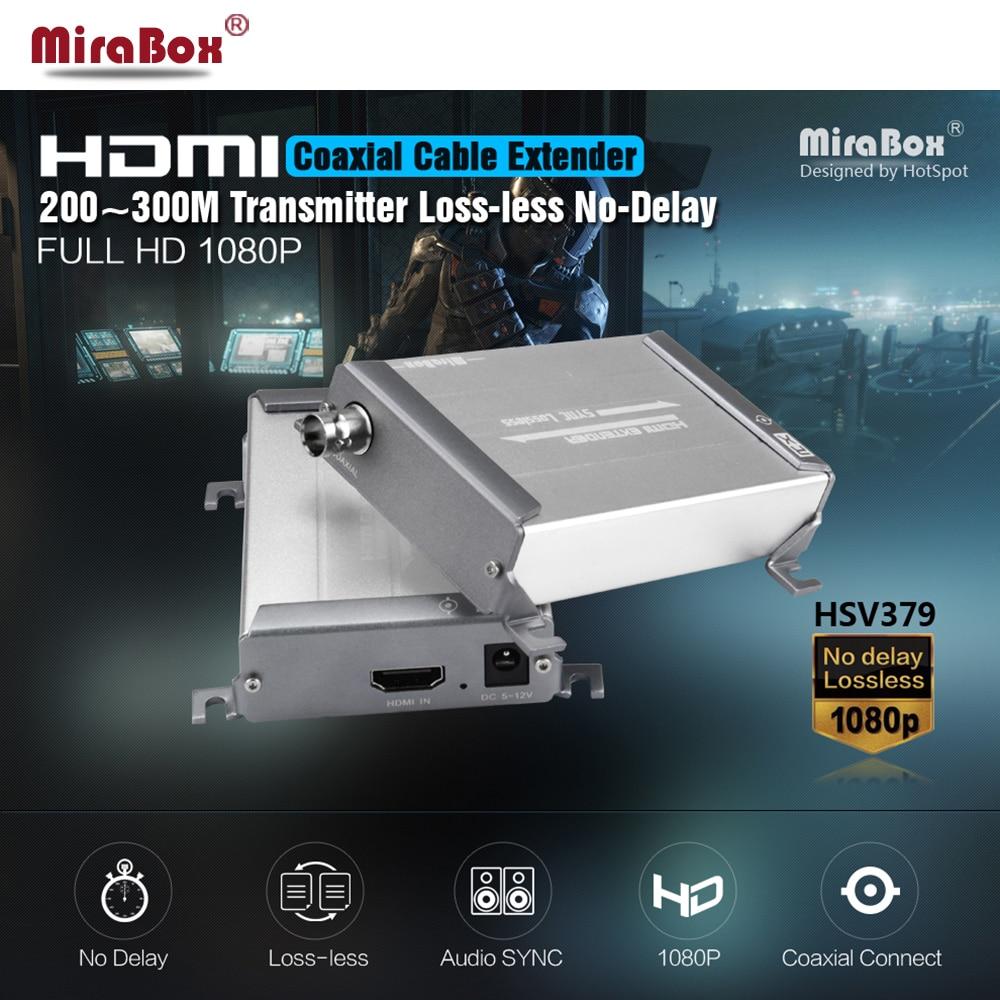 HSV379 فوق ممدد HDMI كابل محوري مع عدم وجود وقت الكمون والفيديو ضياع HDMI اقناع الارسال والاستقبال بواسطة RG59/6U
