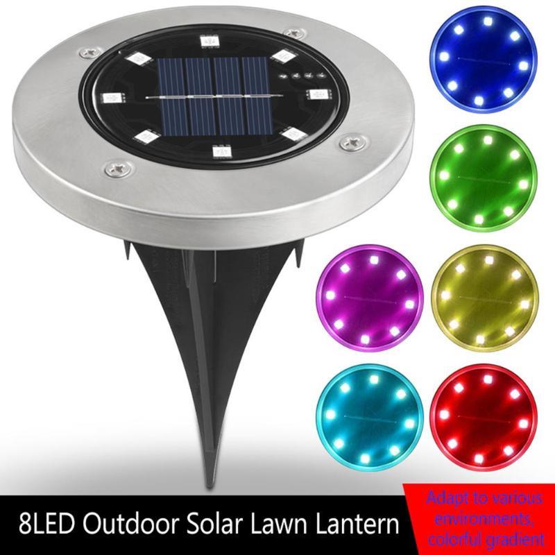 Lámpara Solar de suelo de 8LED, Luz de jardín enterrada, Sensor impermeable,...