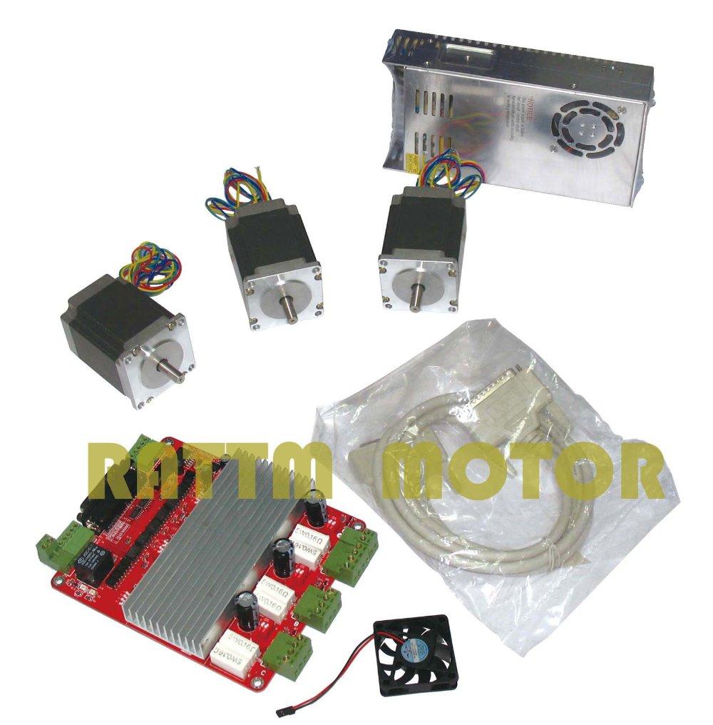 3 NEMA23 270 oz in motor + 3 ejes CNC