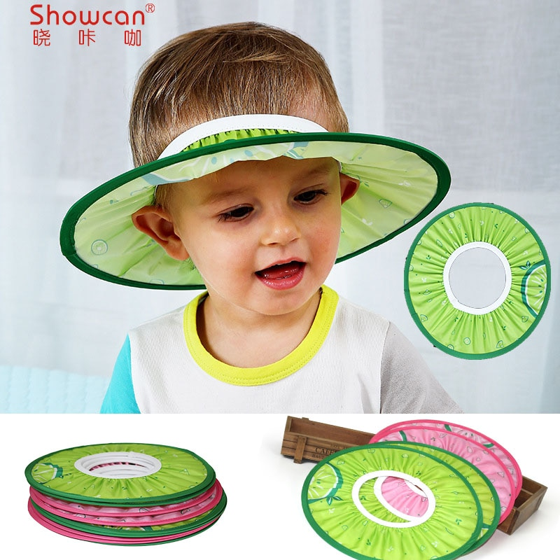 baby Shower Cap Shampoo hat Thicker High bombs adjustable Shield Direct Visor EVA Foam Bath Protect Wash Hair Bathing Care plush