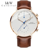 CARNIVAL IW Simple UltraThin Series Quartz Mens Watches Top Brand Luxury Sapphire Crystal Fashion Waterproof High end Watch Men