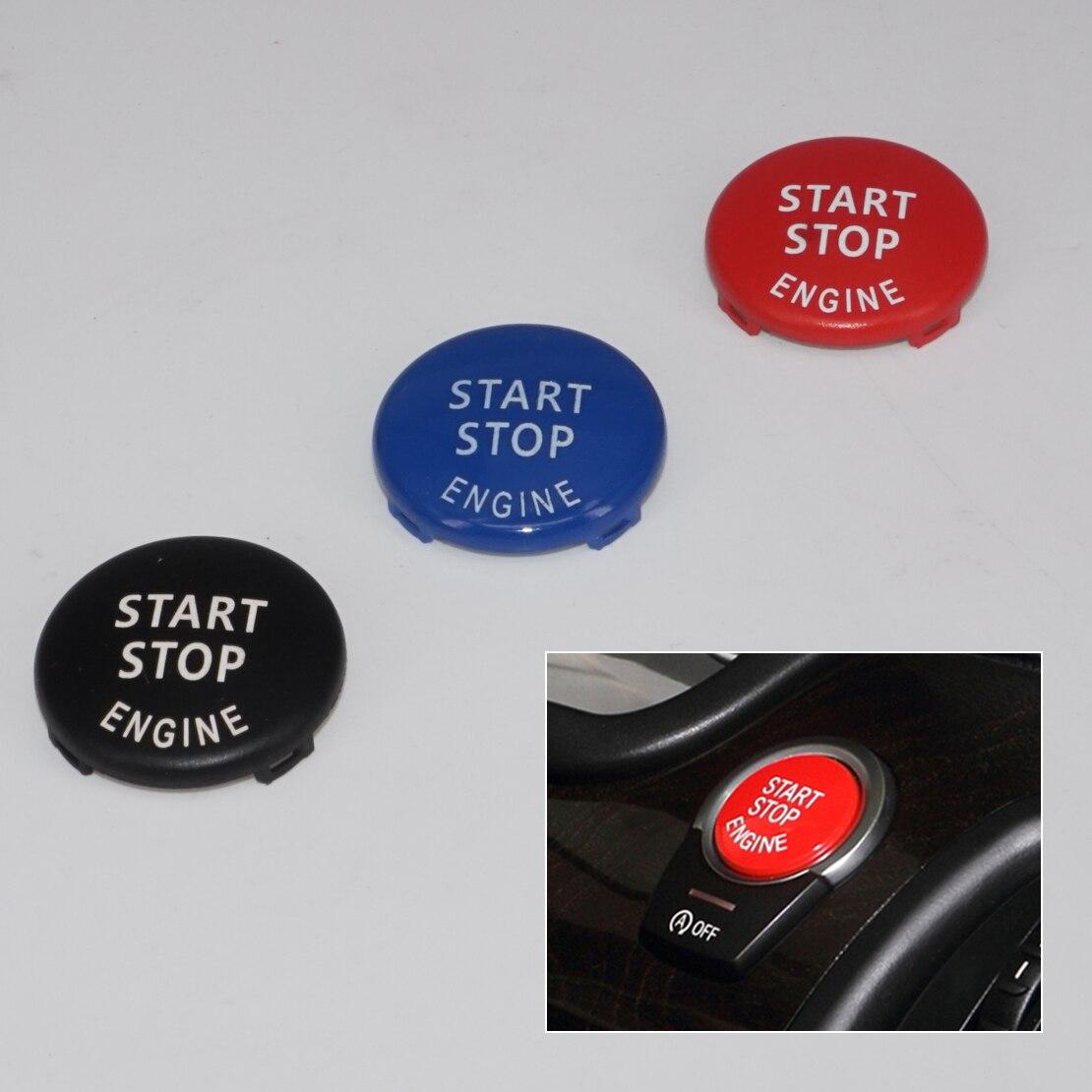 Beler tres colores encendido del motor interruptor de arranque botón cubierta embellecedora tipo anillo apto para BMW Serie 3 5 E90 E91 E92 E93 E60