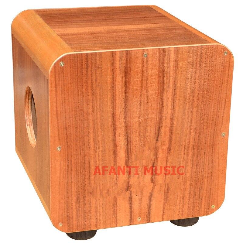 Afanti música madera de acacia/natural cajon (KHG-187)
