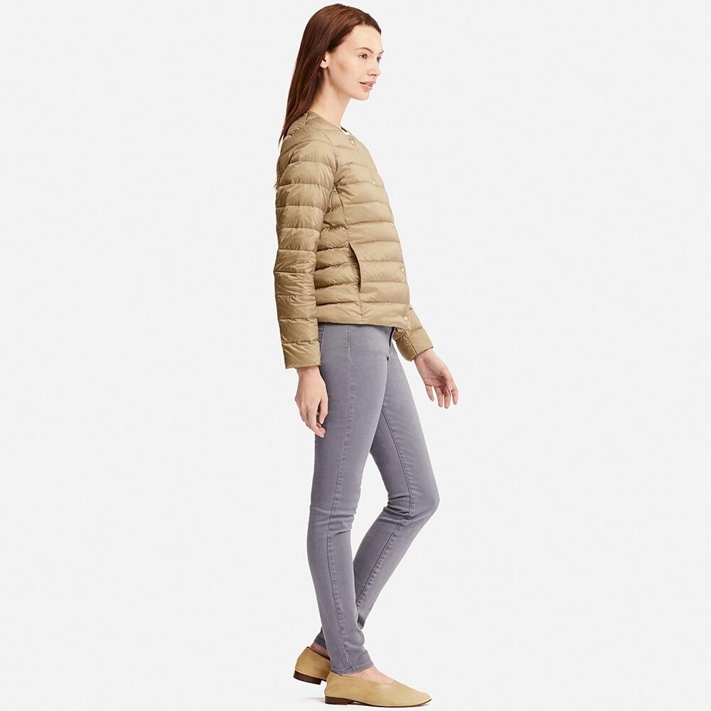 NewBang Matt Stoff Unten Mantel Weibliche Ultra Licht Unten Jacke Frauen Dünne Dünne Windjacke Ohne Kragen Leichten Warmen Mantel