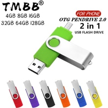 360 ° Draaien Otg Usb Flash Drive Cle 64G Usb 2.0 Smart Telefoon Pen Drive 4G 8G 16G 32G 128G Micro Usb Geheugen Opslag Apparaten U Disk