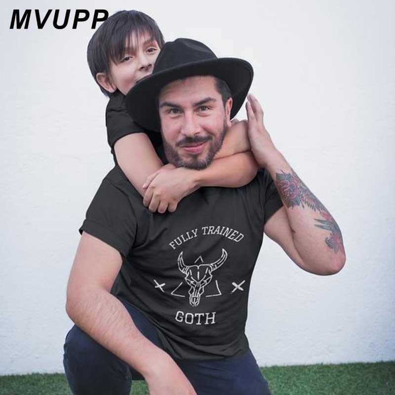 Camiseta de padre e hijo, ropa a juego familiar para papá y yo, atuendos con apariencia de papá, bebé, niño, ropa de verano para niño, GOTH completamente capacitado