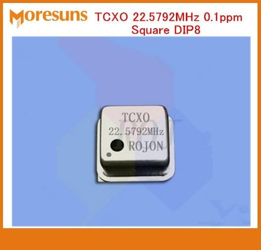 Rápido envío gratis 3 unids/lote sonido DIY fihi compensación de temperatura oscilador de cristal tcxo, 22,5792 MHz 0.1ppm Plaza DIP8
