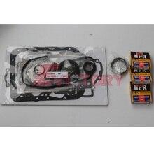 Anneau de Piston + kit de joint complet   Pour Mitsubishi K3B pièces de révision de moteur et vilebrequin et roulement de tige