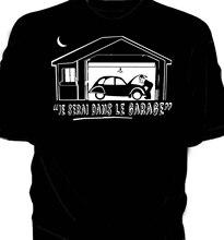 Ill Be In The Garage Классическая Автомобильная футболка Citroen 2CV версия на французском языке