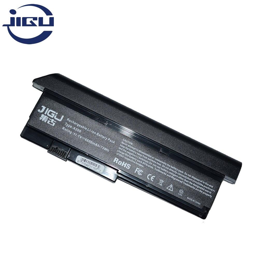 Jigu 9 células bateria do portátil para ibm para thinkpad x200 x200s 42t4834 42t4835 43r9254 43r9255 asm 42t4537 asm 42t4541 fru 42t4536
