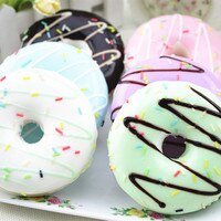 2018 Kids'1PC Squishy Squeeze Stress Reliever Soft Colourful pu Doughnut Scented Slow Rising  Toys tricks anti-stress squishy