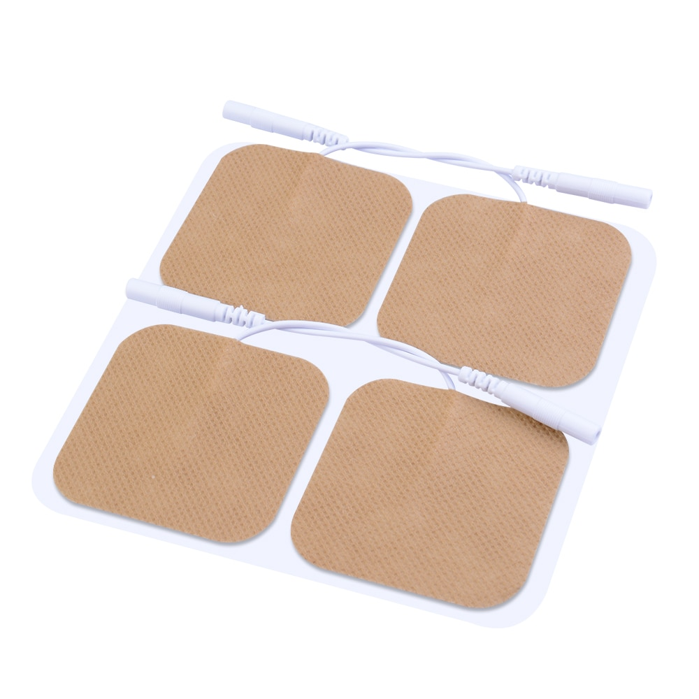 FDA 510k(5*5cm/2mm pin)cleared HealthmateForever massage electrode pads self adhesive conductive water activated,no gel needed