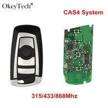 Okeytech 4 Buttons Smart Car Remote Key Keyless For BMW 3 5 7 Series FEM CAS4+System 315/433/868Mhz PCF7949/53 Chip