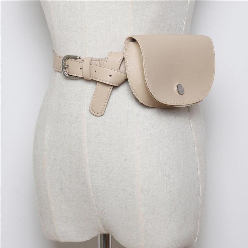 Luxury Leather Women Waist Belt Bag Fashion Small Semicircle Fanny Pack for Women Waist Pouch Money Phone Bag Purse Pochete