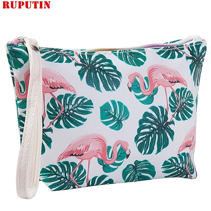 RUPUTIN, Dropshipping, nueva bolsa de cosméticos de PU, bolsa de maquillaje para mujer, organizador de maquillaje de viaje, bolsa de cosméticos, neceser de almacenamiento para mujer, estuche de aseo