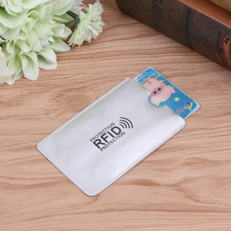 Anti Scan RFID Sleeve Protector Credit ID Card Aluminum Foil Holder Anti-Scan Card Sleeve недорого
