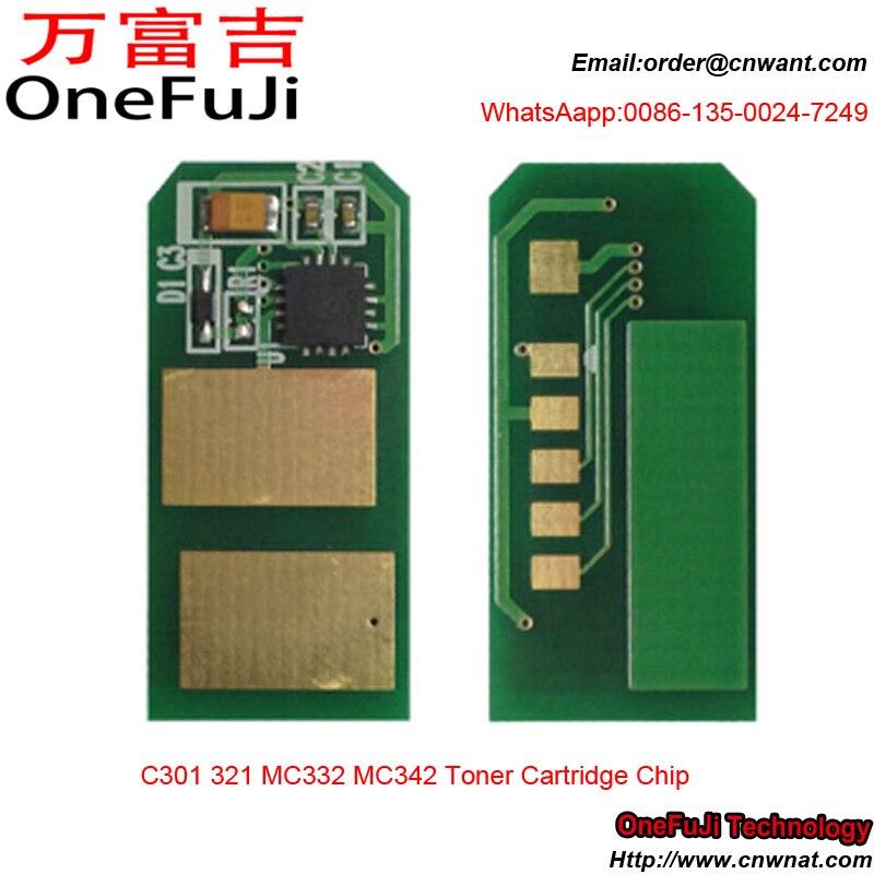 Toner chip C301 321 MC332 MC342 44973536, 44973535, 44973534, 44973533 para OKI chip de cartucho de tóner