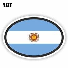 YJZT 13CM * 8.8CM créatif argentine drapeau ovale décalcomanie voiture fenêtre voiture autocollant 6-1631