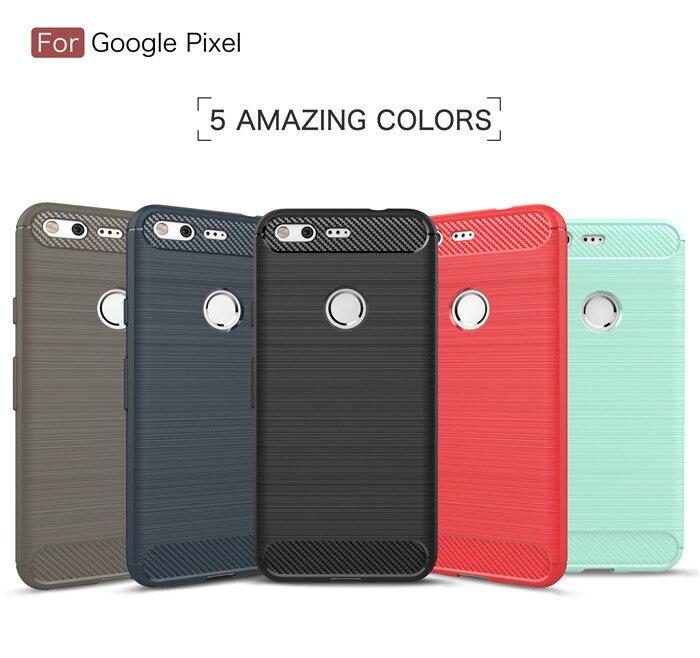 Чехол для Google Pixel 5,0 дюйма, противоударный мягкий чехол из ТПУ для Google Pixel XL 5,5 дюйма, чехол из углеродного волокна